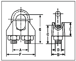 wire rope clamps us type melleable